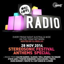 ONELOVE RADIO 28 NOV 2014 - STEREOSONIC FESTIVAL ANTHEMS SPECIAL