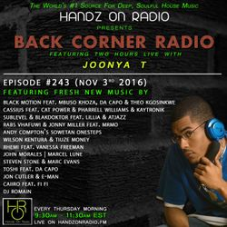 BACK CORNER RADIO: Episode #243 (Nov 3rd 2016)