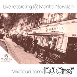 @DJOneF LIVE @ Mantra Norwich 26.09.17 [HipHop + Remixes]