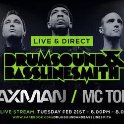 Drumsound & Bassline Smith - Live & Direct #26 Feat Taxman & Mc Toddlah [21-02-17]
