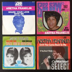 Aretha Franklin (two single only releases, VG to VG+)