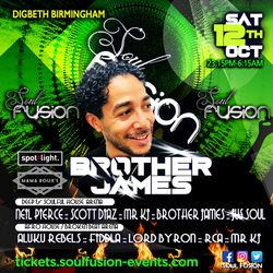 Brother James LIVE @  Soul Fusion Oct 12 2019 Birmingham