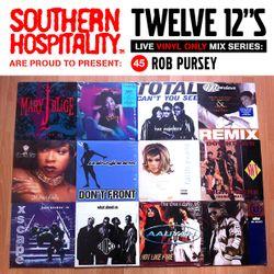 Twelve 12's Live Vinyl Mix: 45 - Rob Pursey - 90s R&B Special!