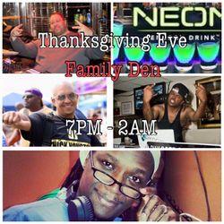 A Night @ the Family Den: Thanksgiving Eve 25 November 2015