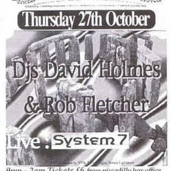 System 7 LIVE @ Herbal Tea Party (Manchester  UK)  27 October 1994
