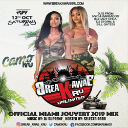Break-Awae Kru Official Miami Jouvert 2019 Soca Mix