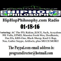 HipHopPhilosophy.com Radio - LIVE - 01-11-16