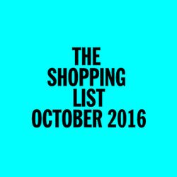 The Shopping List / October 2016 / Ambient Excursion