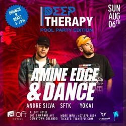 2017.08.06 - Amine Edge & DANCE @ Aloft Pool Party, Orlando, US
