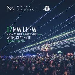 Mayan Warrior Crew x Robot Heart Tie Up