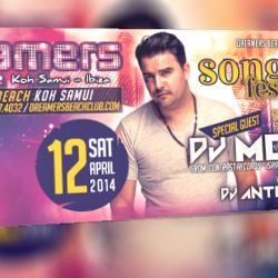 MOSHIC @ DREAMERS CLUB April 12  Koh Samui Thailand