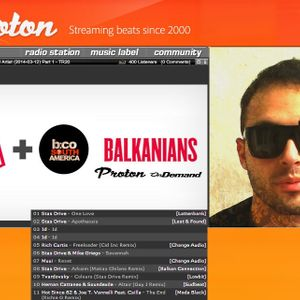 Stas Drive - Guest mix for Balkanians@ Proton radio, March 2014