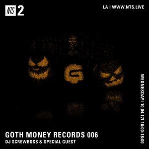 Goth Money - 4th October 2017