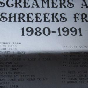 WDRE screamer/shreekend week end series 1980-81c