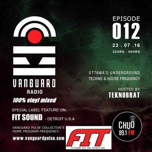 VANGUARD RADIO Episode 012 with TEKNOBRAT - 2016-07-23RD CHUO 89.1 FM Ottawa, CANADA