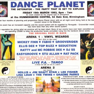 Ellis Dee - Live @ Dance Planet - The Pleasure Zone - 1993 - Pt 2