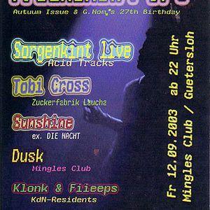 Tobi Cross - Live at Freakshow pt. 7 (12.09.2003 @ Mingles Club / Gütersloh)