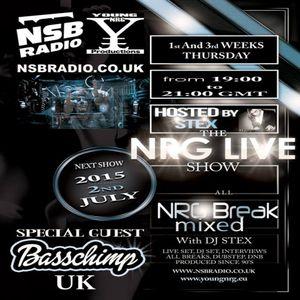 Stex - NRG Live Show - NSB Radio - SG Bass Chimp - 2nd July - 1part