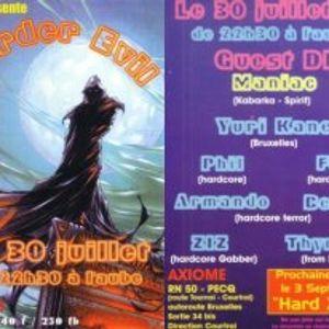 dj phil & dj beb'r - harder evil 30/07/99 - axiome gabber team