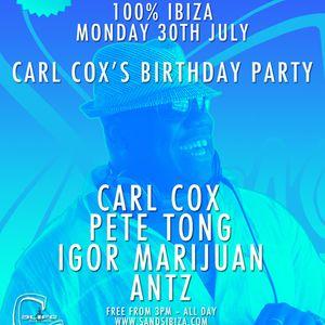 Carl Cox - Live @ Carl Cox's Birthday Party, Sands Club, Ibiza, Espanha (30.07.2012)