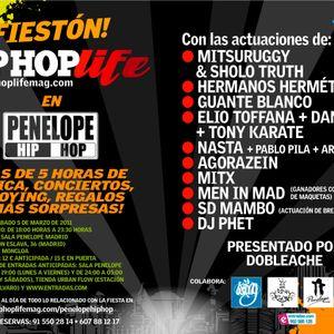 Fiesta Hip Hop Life 5 de Marzo Penelope