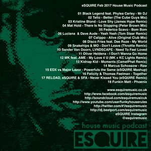 Esquire feb 2017 house music podcast by esquire music uk for House music podcast
