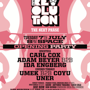 IGOR MARIJUAN B2B CRIS 44 - LIVE at MUSIC IS REVOLUTION at SPACE - JULY 7TH - IBIZA SONICA