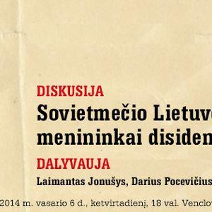 """Diskusija """"Sovietmečio Lietuvos menininkai disidentai"""""""