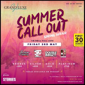 Summer Call Out Spring Affair @ Stories Nightclub 03/05/19 | (Promo Mix)