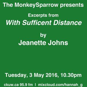 With Sufficent Distance- extracts from an essay by Jeanette Johns- The MonkeySparrow 43