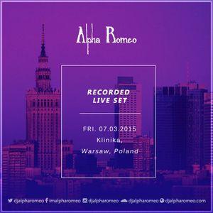 DJ Alpha Romeo Liveset @ Klinika (Warsaw, Poland)