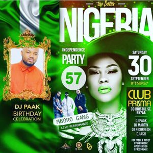 NIGERIA INDEPENDENCE PARTY @PRISMA NIGHT CLUB (30 Sept 2017) - HIPHOP SET