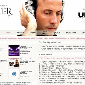 DJ MASTER TOP Charts & PLayliste September, 2012 Clubbing FG DJ Radio