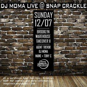 DJ MOMA Live At SNAP CRACKLE 12.07.14