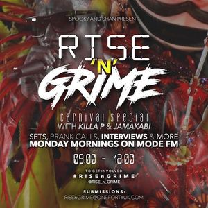 29/08/2016 - Rise'n'Grime w/ Spooky & Shan ft. Killa P & Jamakabi - Mode FM (Podcast)
