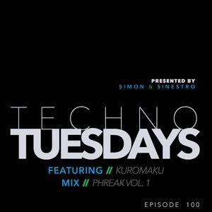 Techno Tuesdays 100 - Kuromaku - Phreak Vol. 1