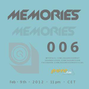 Aggressor  - Memories 006 [February 9th 2012]  on Pure FM