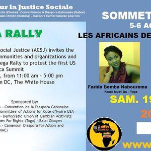 SOMMET USA-AFRIQUE - Les Africains des USA se mobilisent pour le 5 et 6 Aout 2014