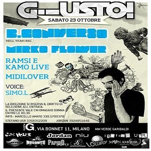 Kamo & Ramsi live @ Punto G (Party G!usto) - 23.10.2010 [Milan, IT]