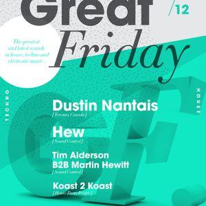 Hew - Great Friday Showcase 13/10/12