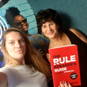 Georgia Varjas (The Rulebreakers Guide) & Maggie Tibble (Dead Parrot Society) with Hazel Butterfield