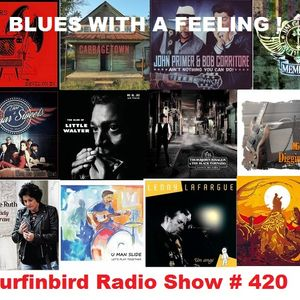 SURFINBIRD RADIO SHOW  # 420  BLUES WITH A FEELING !