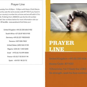 Rev Dr Okey Ugwu Live on the Prayer Line
