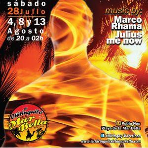 "Julius Me Now! live @ Chiringay Barcelona  ""Heat Me"" part.1"