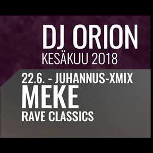 DJ Meke - Rave Classics XmiX Radio YleX 2018 Midsummer (90s rave)