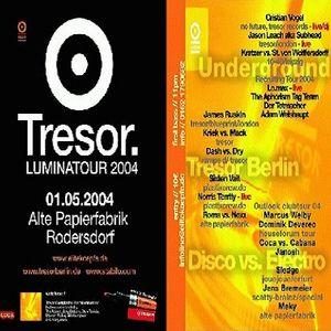Lo Max (Live PA) @ Tresor. Luminatour 2004 - Alte Papierfabrik Rodersdorf - 01.05.2004