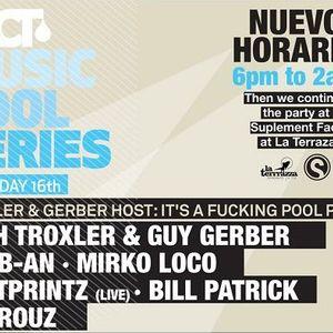 Seth Troxler vs Guy Gerber - Live @ FACT, It's A Fucking Pool Party, Sonar 2012 - 16.06.2012