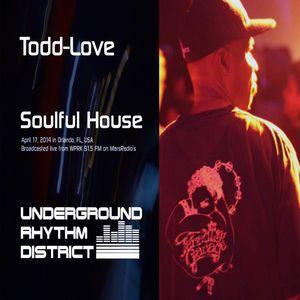 Soulful House mix by Todd-Love, WPRK 91.5 FM, Orlando, FL, Underground Rhythm District, 17APR14