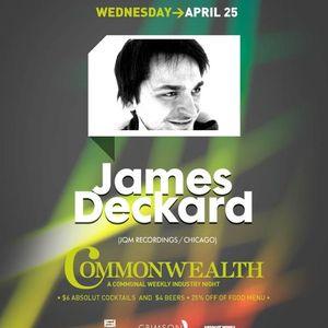 Commonwealth 25 April featuring James Deckard (JQM Recordings)