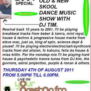 Energised - Old & New Skool  Dance Music Show With DJ Tim - 2001 Special - Part 1